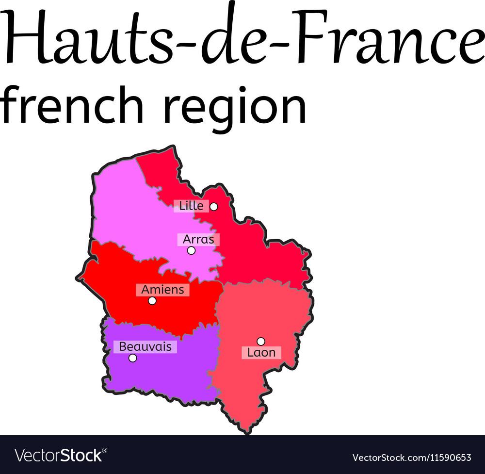Map Of France Lille Region.Hauts De France French Region Map