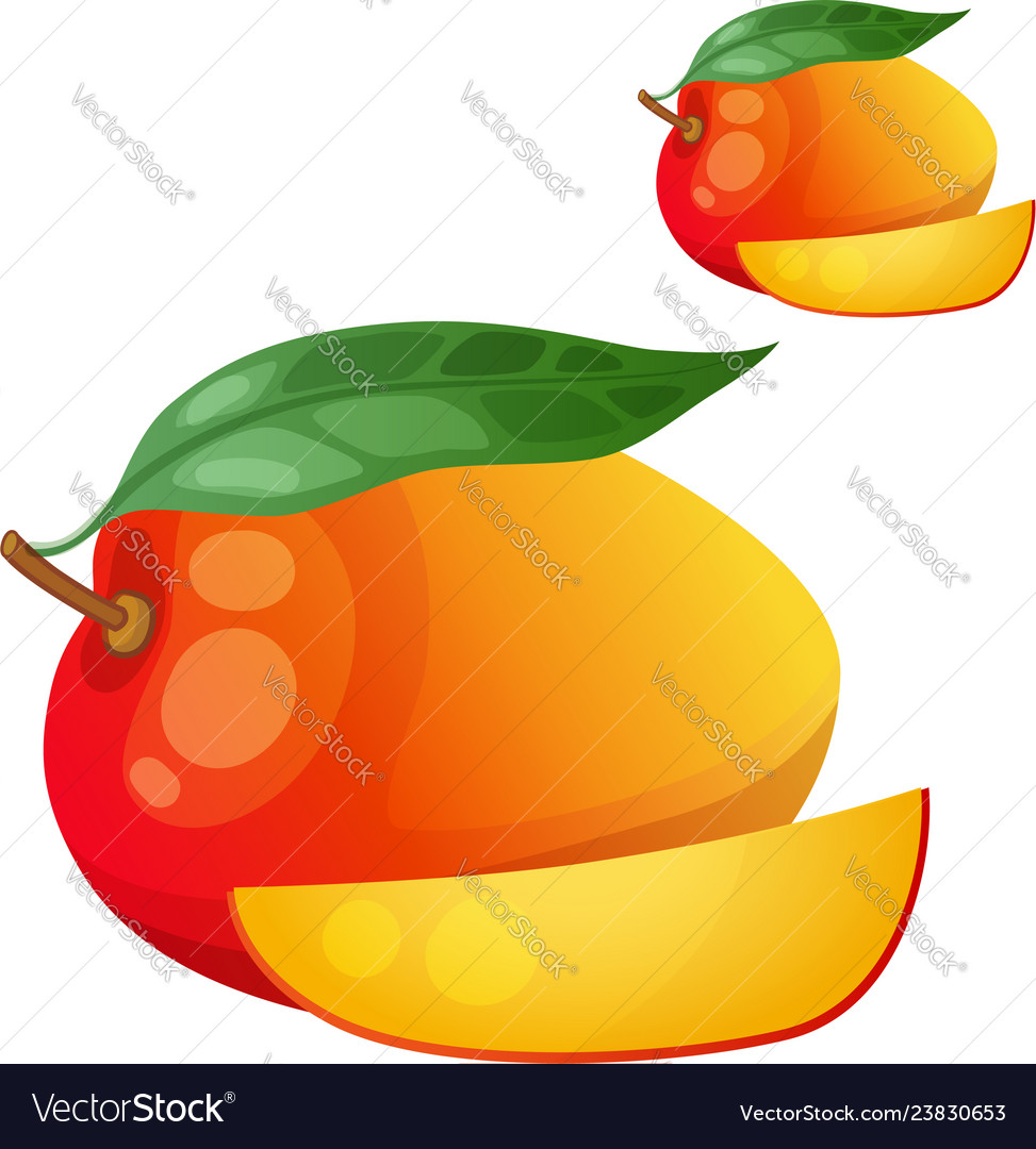 Mango cartoon icon isolated on white