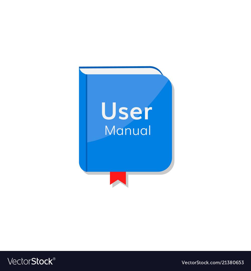 User Manual Tutorial Icon Royalty Free Vector Image