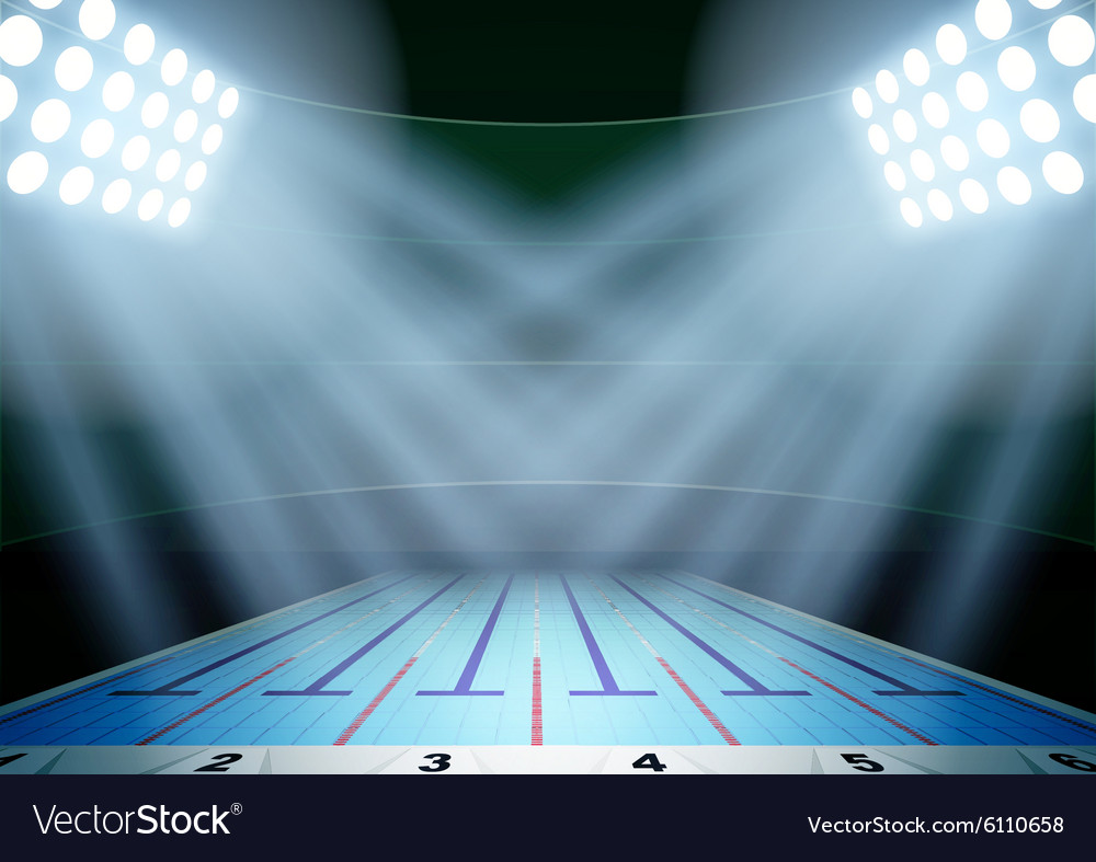 Background for posters night swimming pool stadium