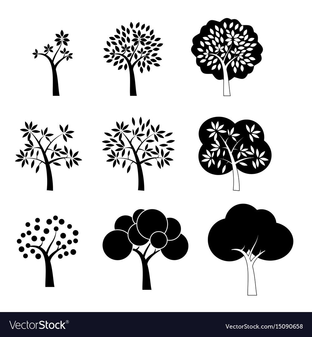 Black tree icons