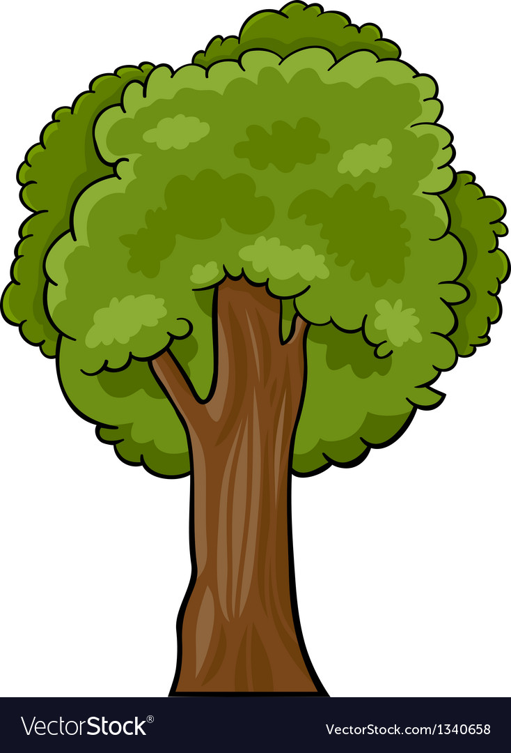 Cartoon Deciduous Tree Royalty Free Vector Image Affordable and search from millions of royalty free images, photos and vectors. vectorstock