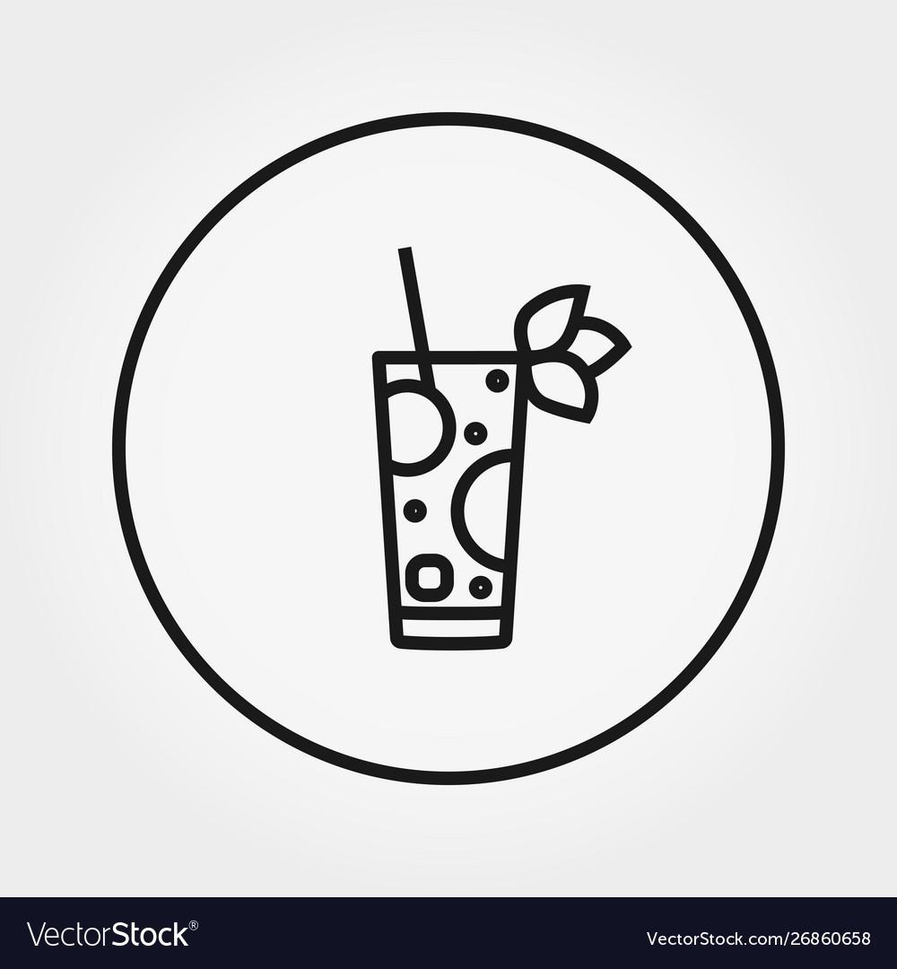 Cocktail universal icon editable thin
