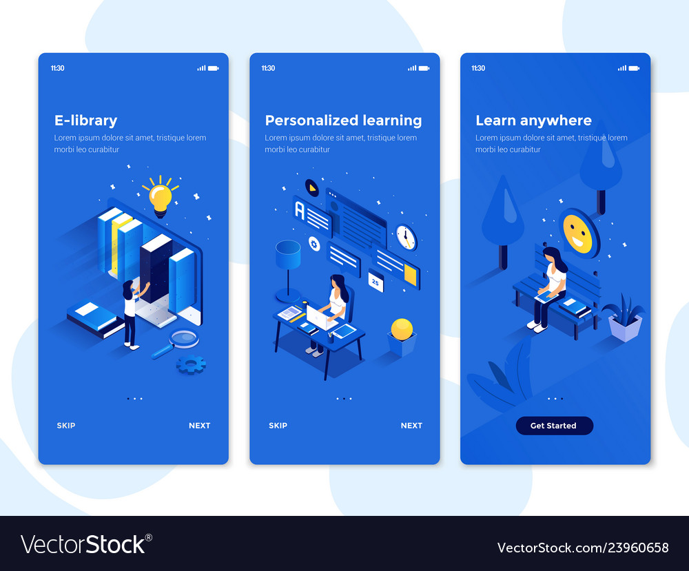 Flat design oneboarding concepts - isometric 5