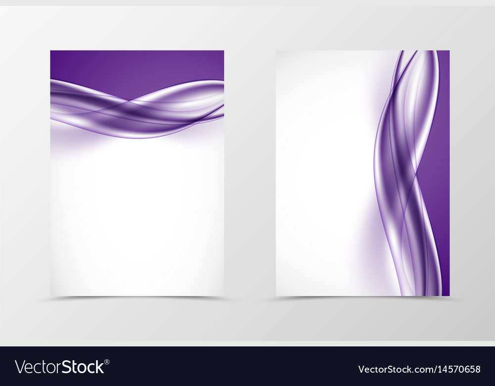 Front and back smooth design flyer template