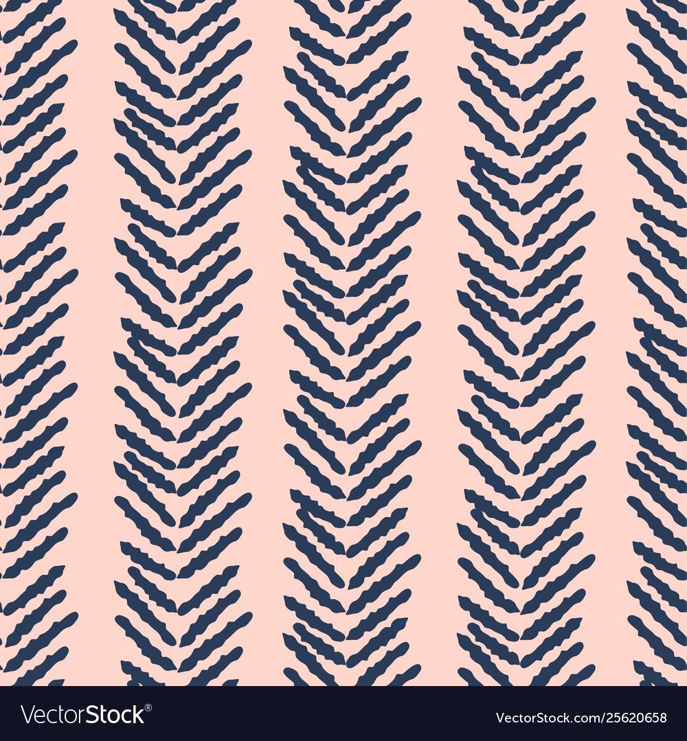 Herringbone blue and pink hand drawn simple