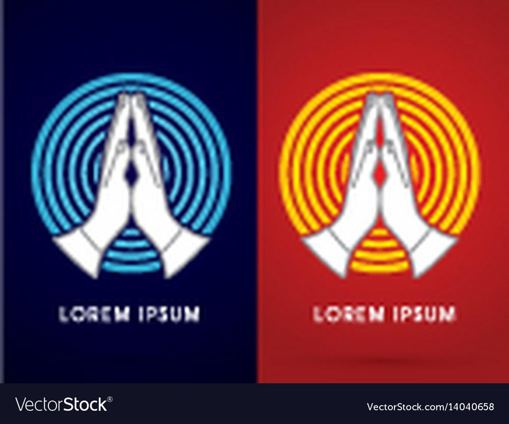 Prayer hand vector image