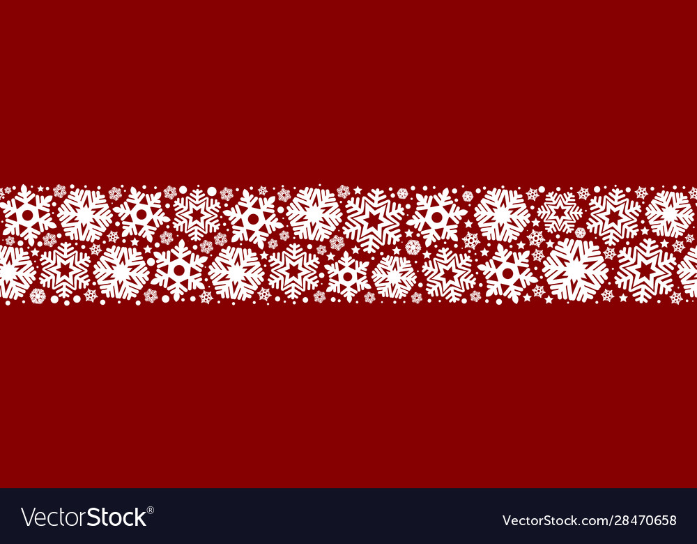 Seamless snowflakes on a red background
