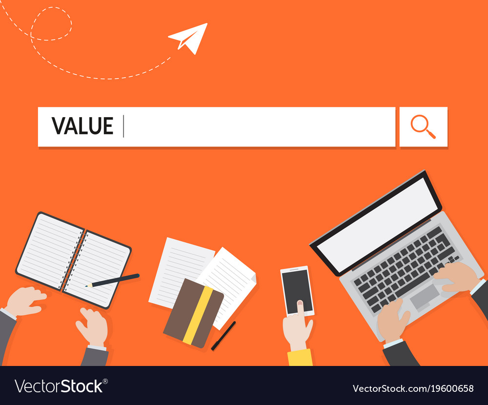 Value search graphic for business