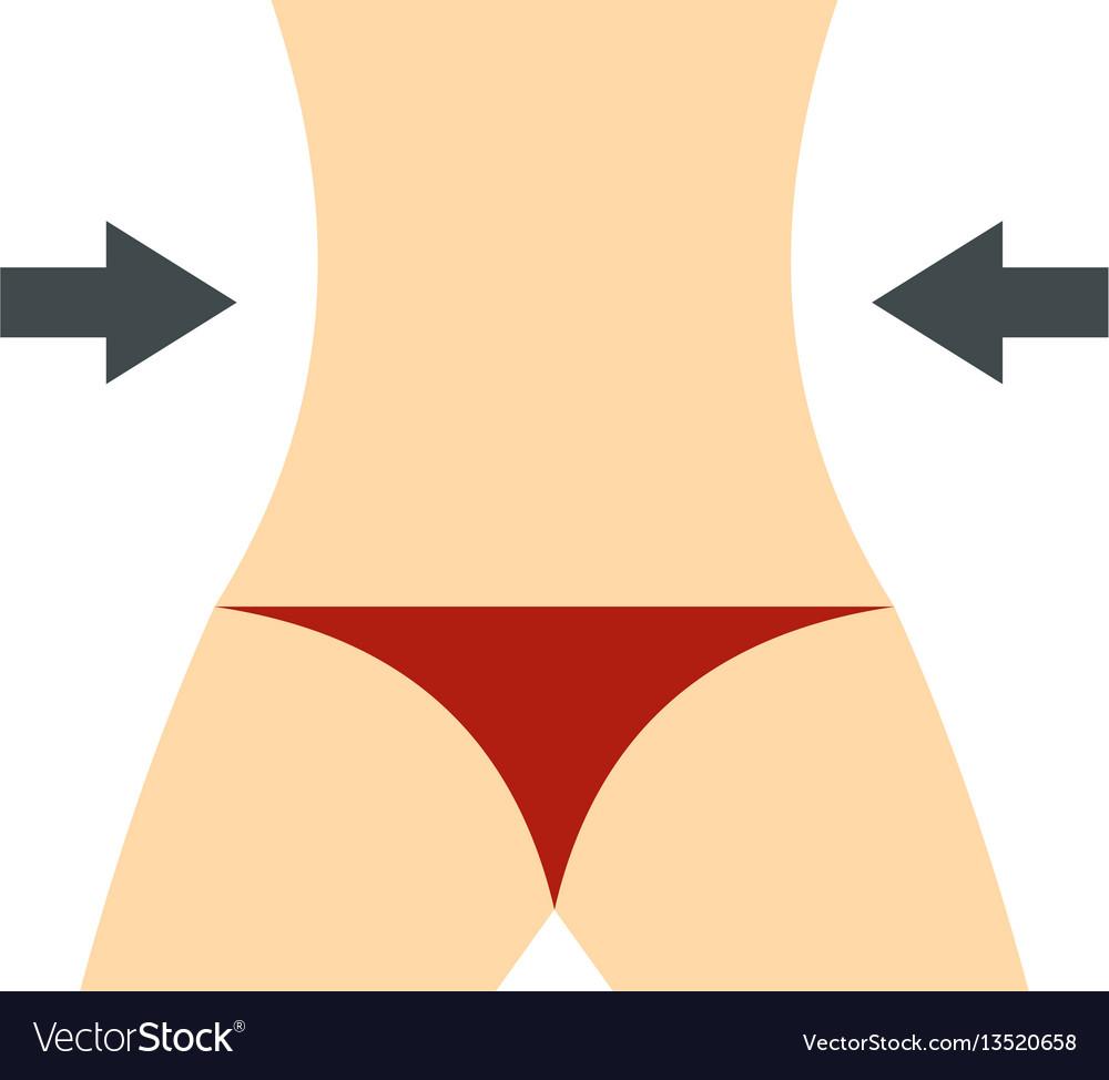 Women slim body icon flat style