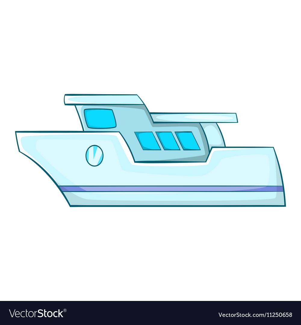 Yacht icon cartoon style