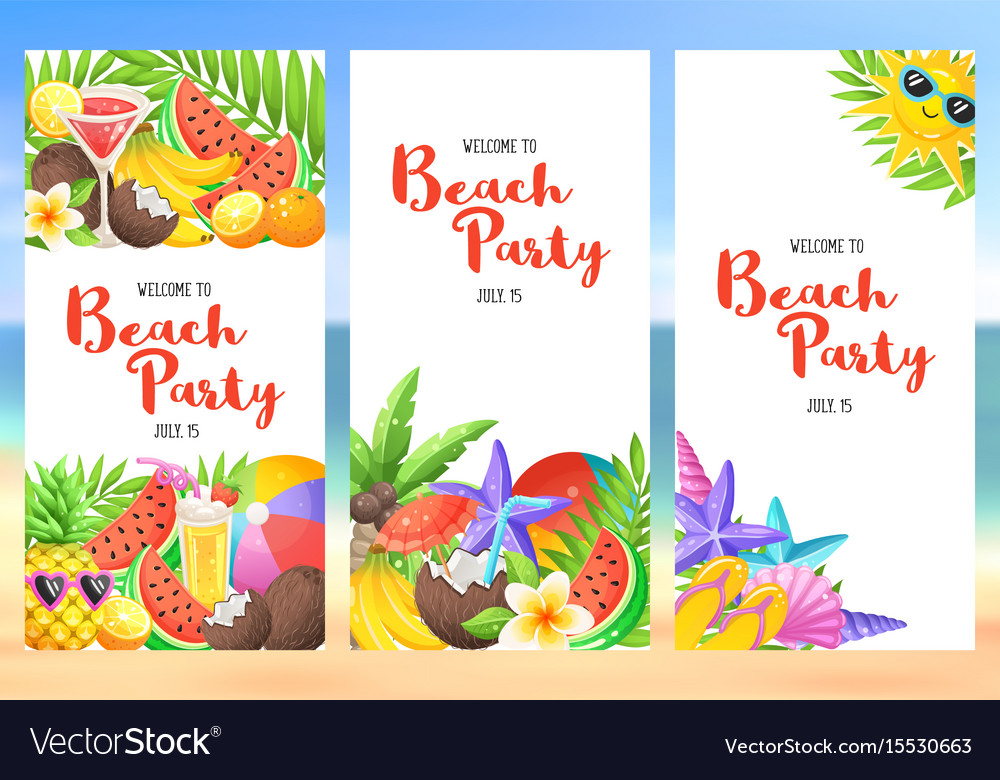 Beach party banners