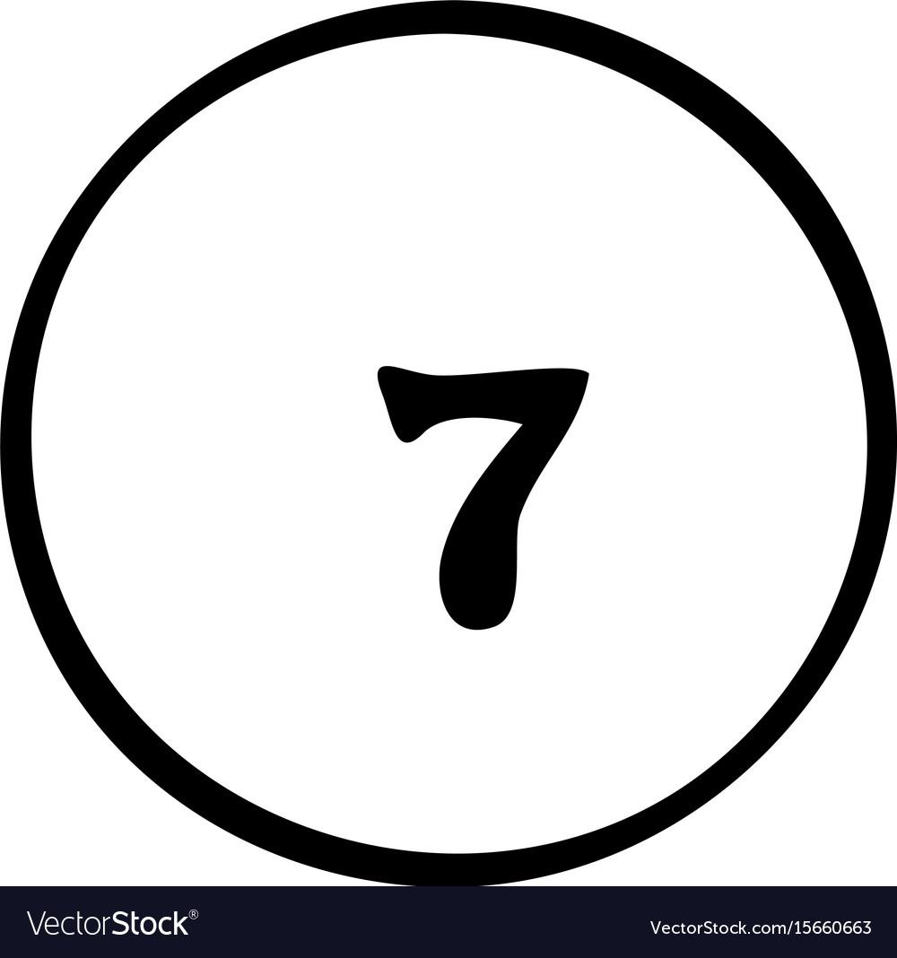 Cartoon image of pool ball icon billiard symbol