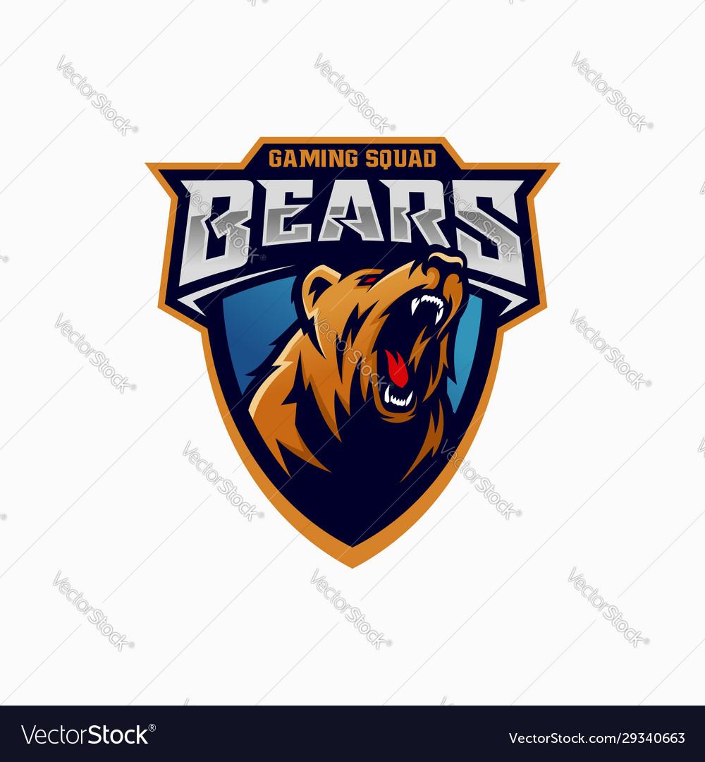 Modern professional grizzly bear logo