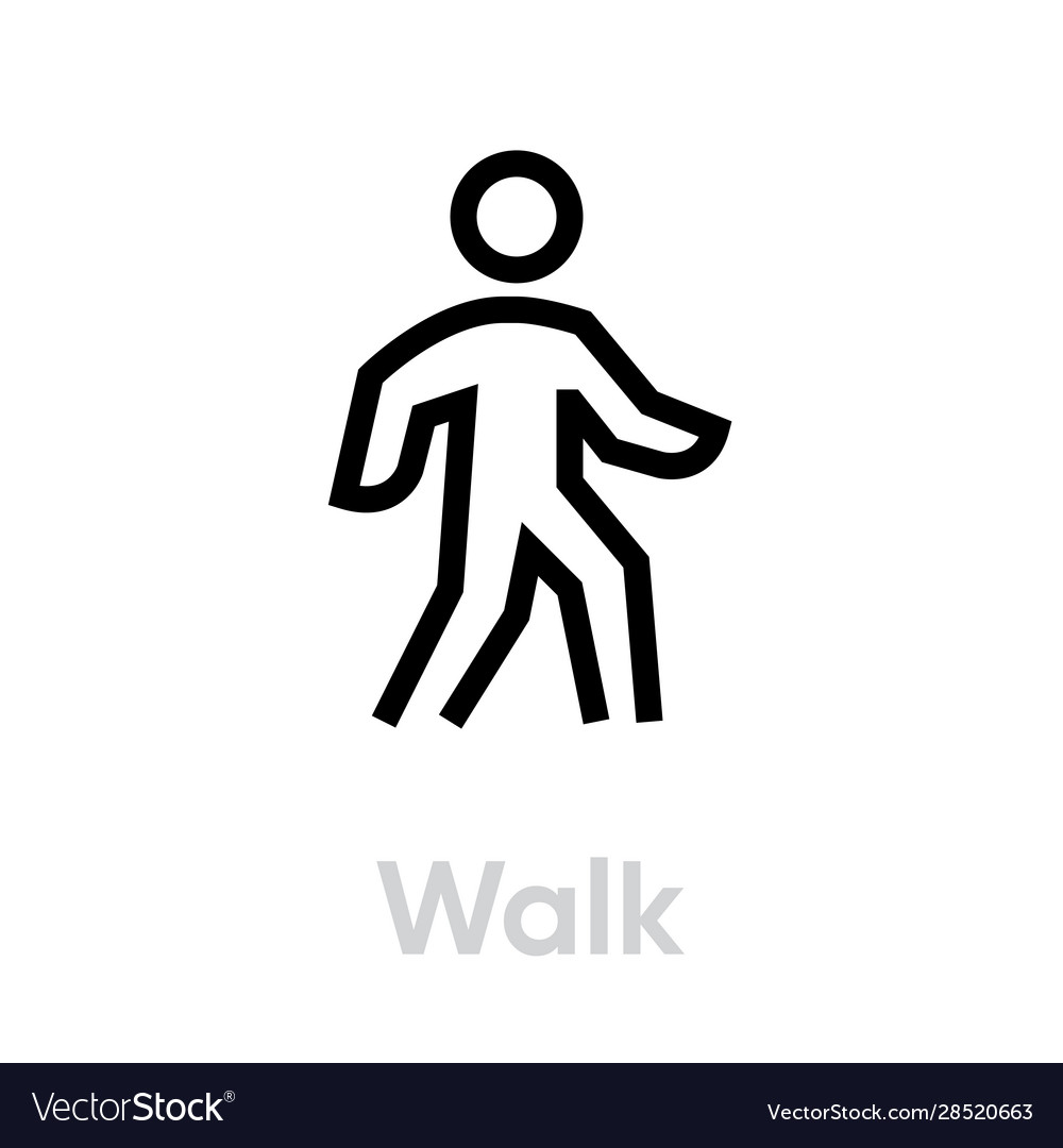 walk sport icon royalty free vector image vectorstock vectorstock