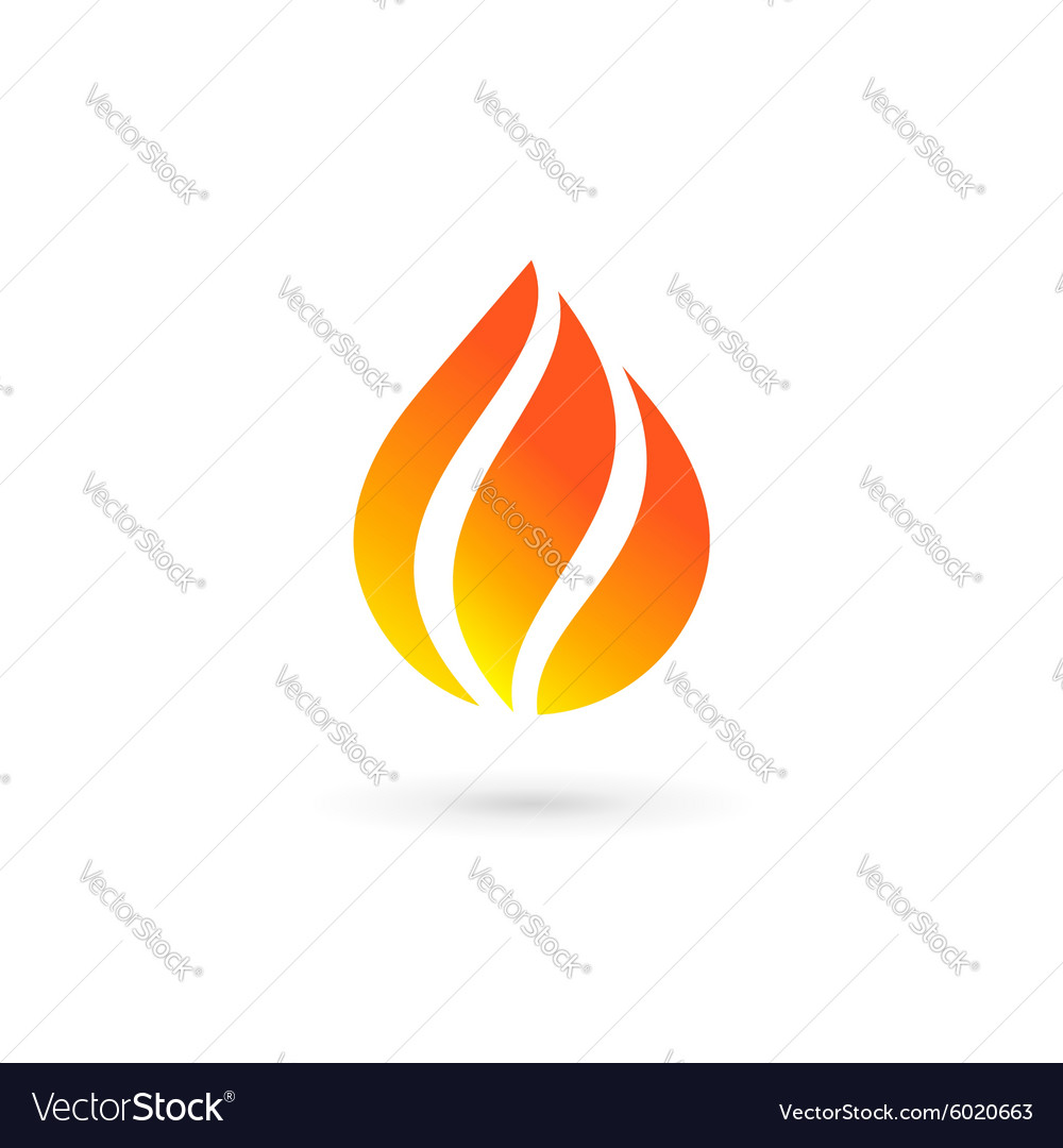 Water drop fire logo design template icon May be vector image