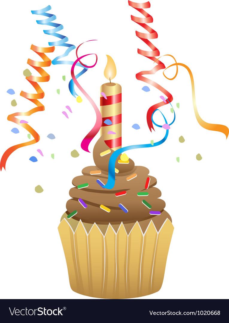 Birthday chocolate cupcake