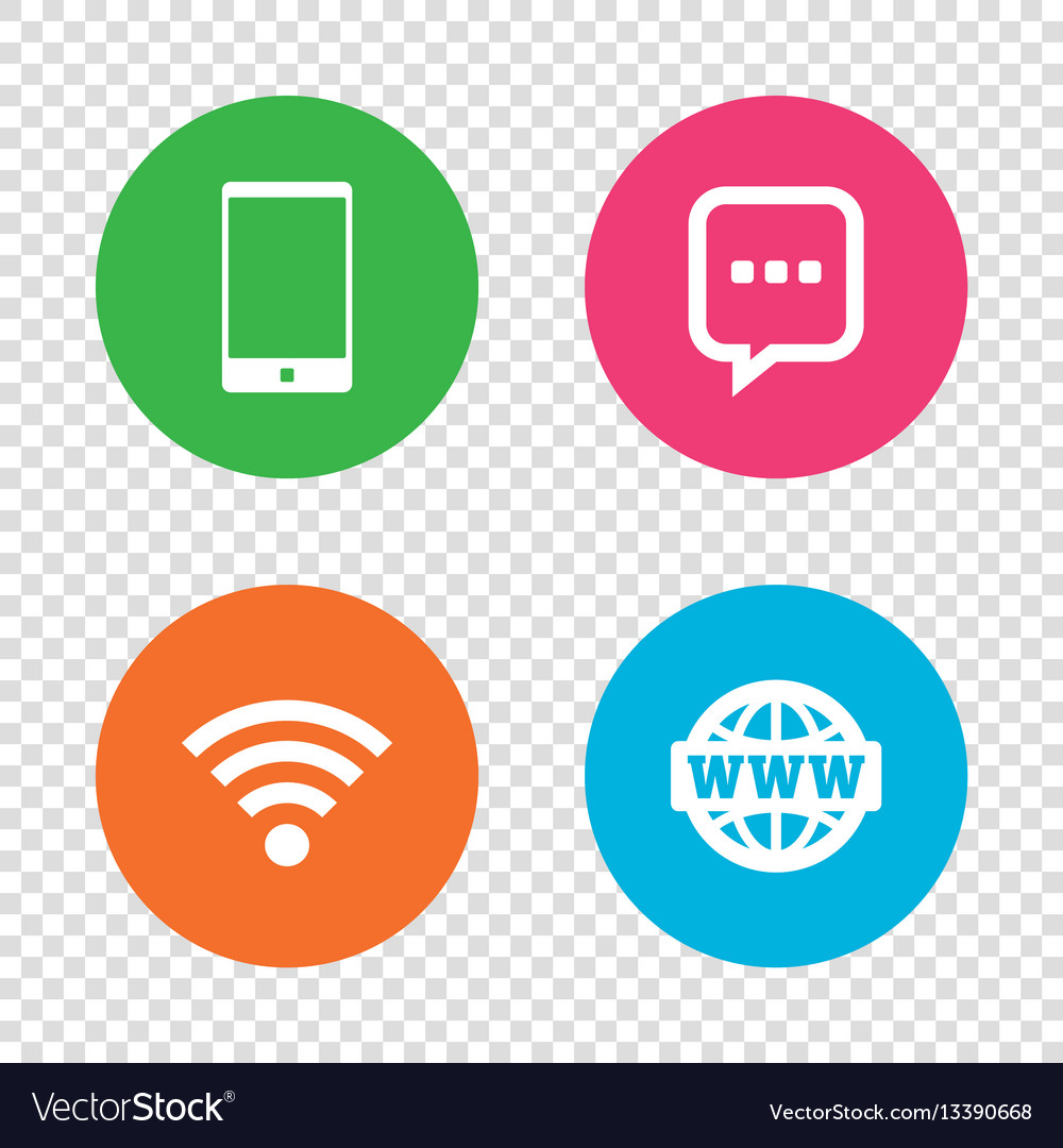 Communication icons smartphone and chat bubble