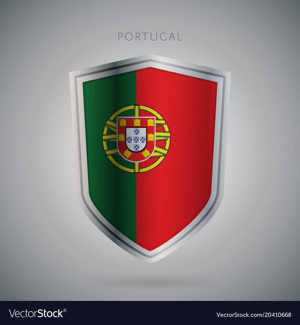 Europe flags series portugal modern icon vector image