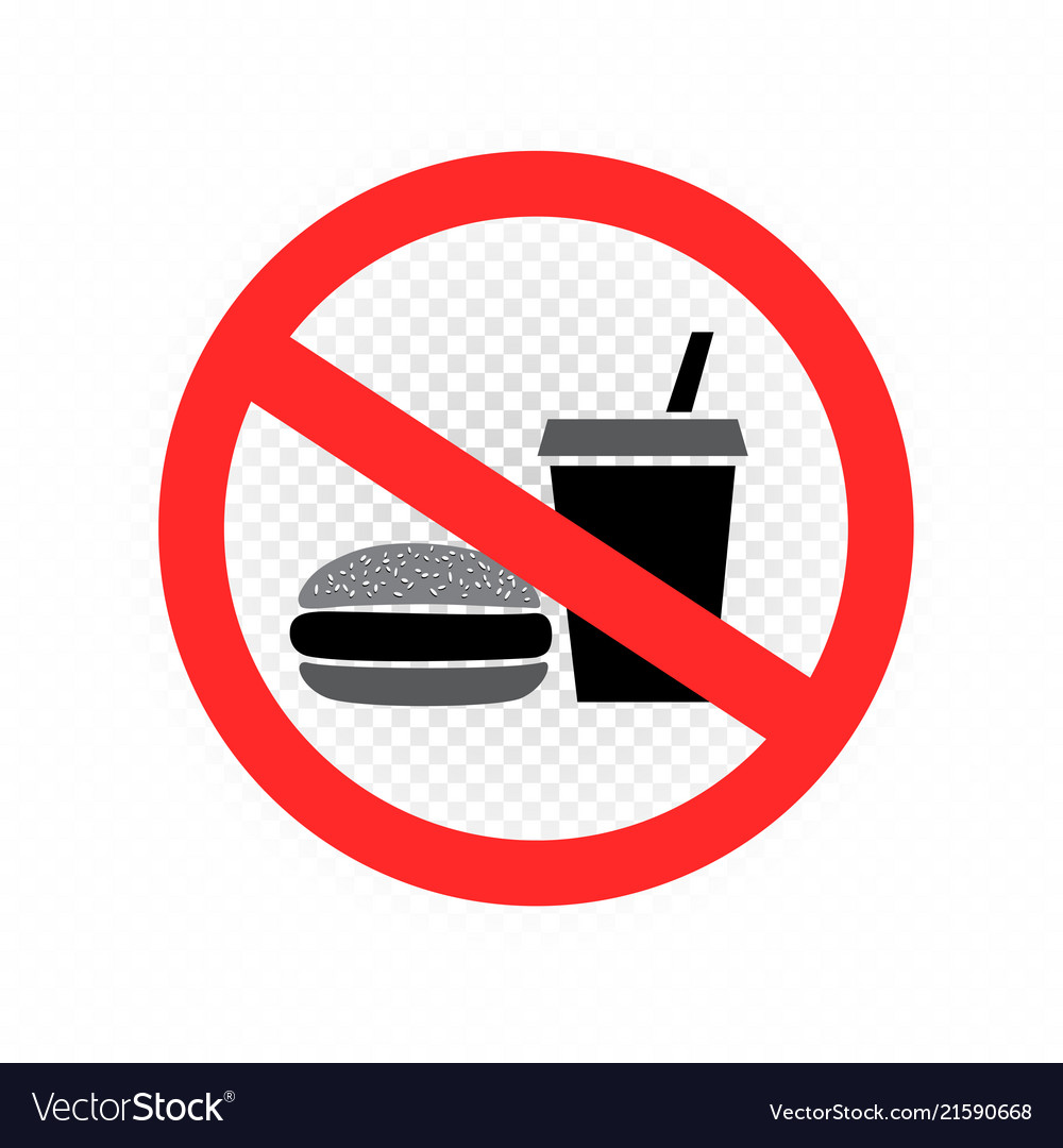 No fast food sign symbol icon transparent