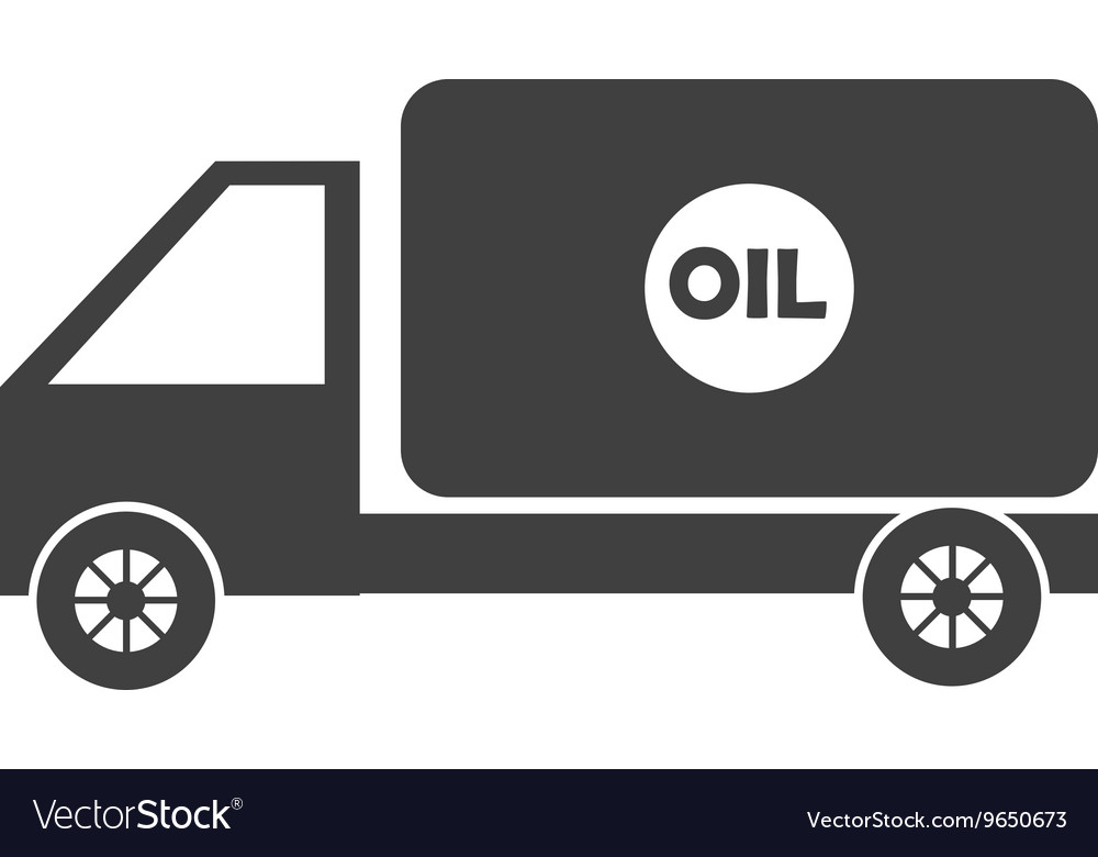 Black cargo truck graphic vector image