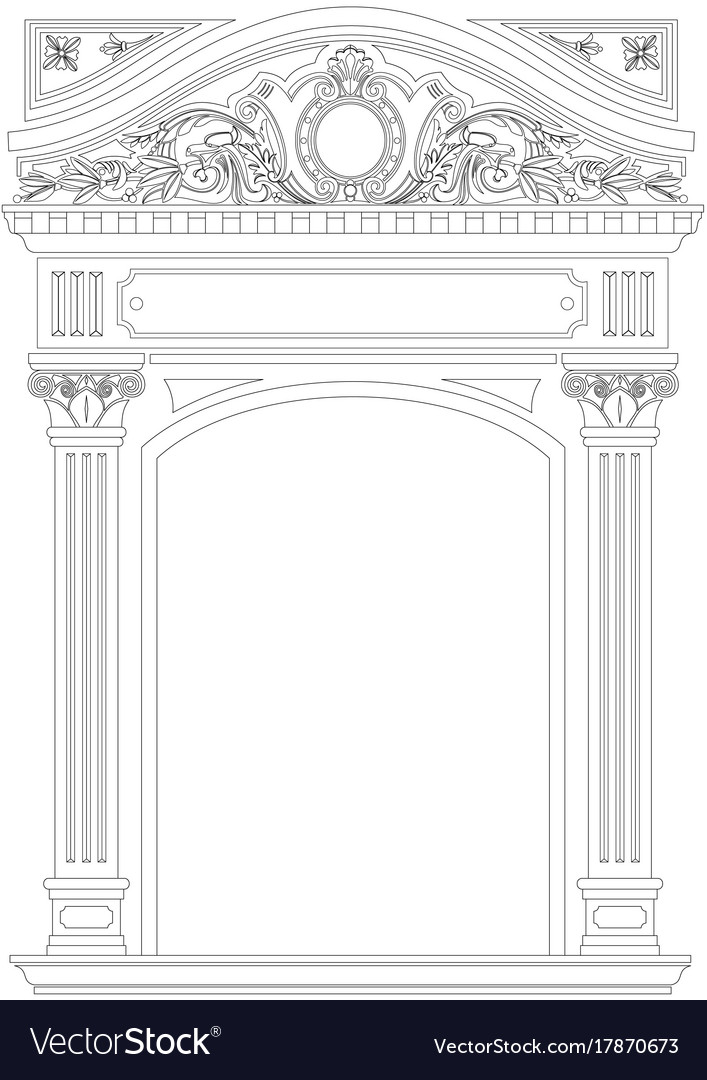 Contouring coloring of classical arch