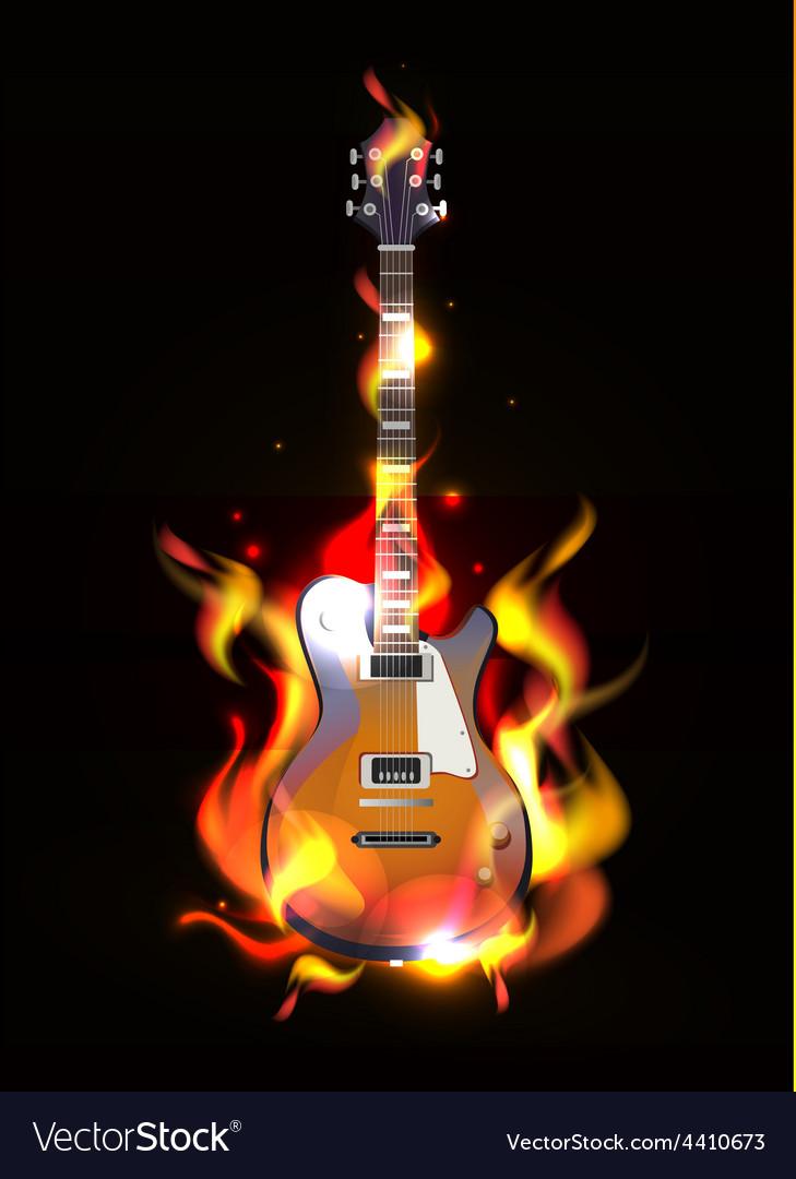 Guitar designs flames