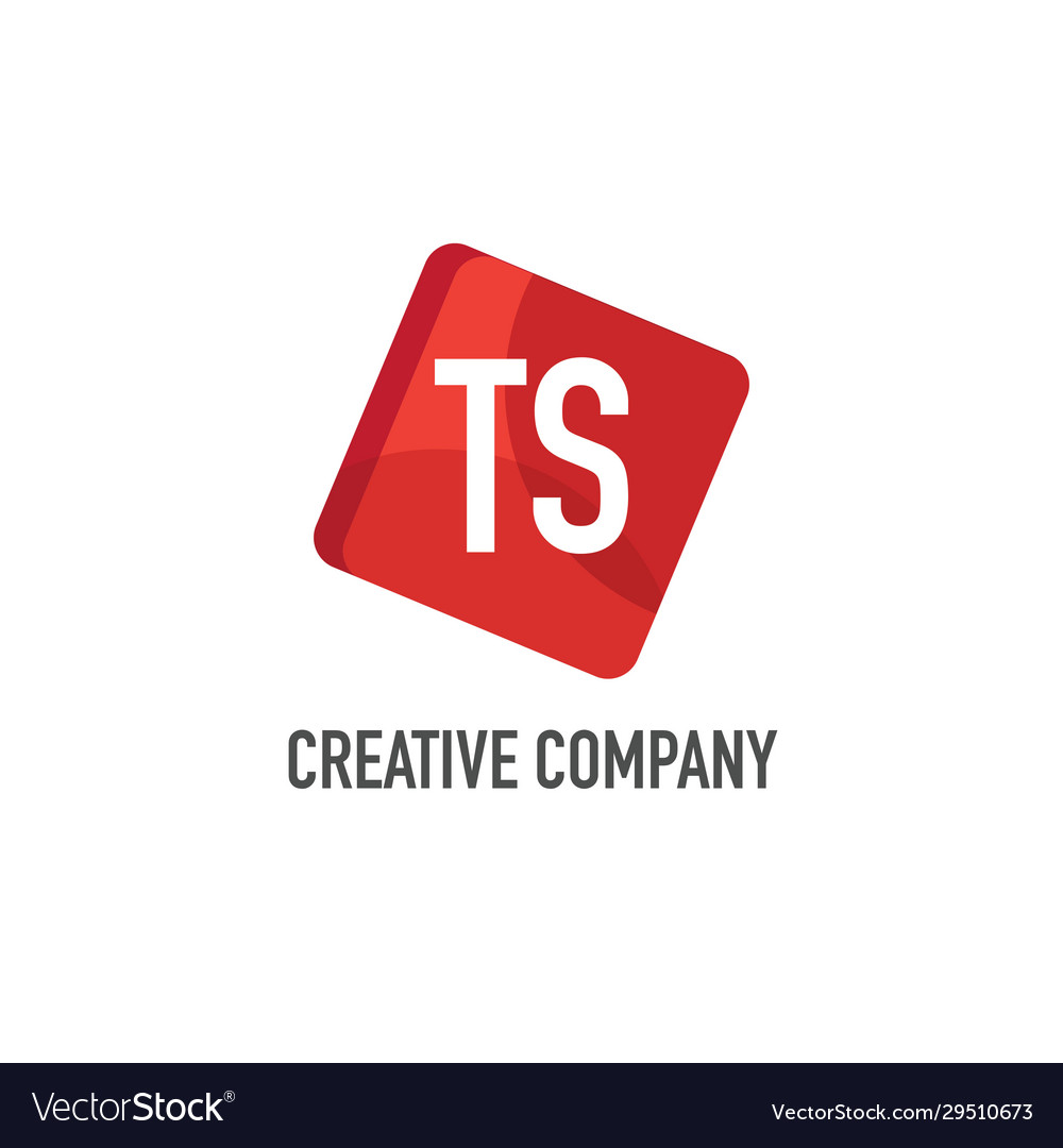 Initial letter ts logo template design