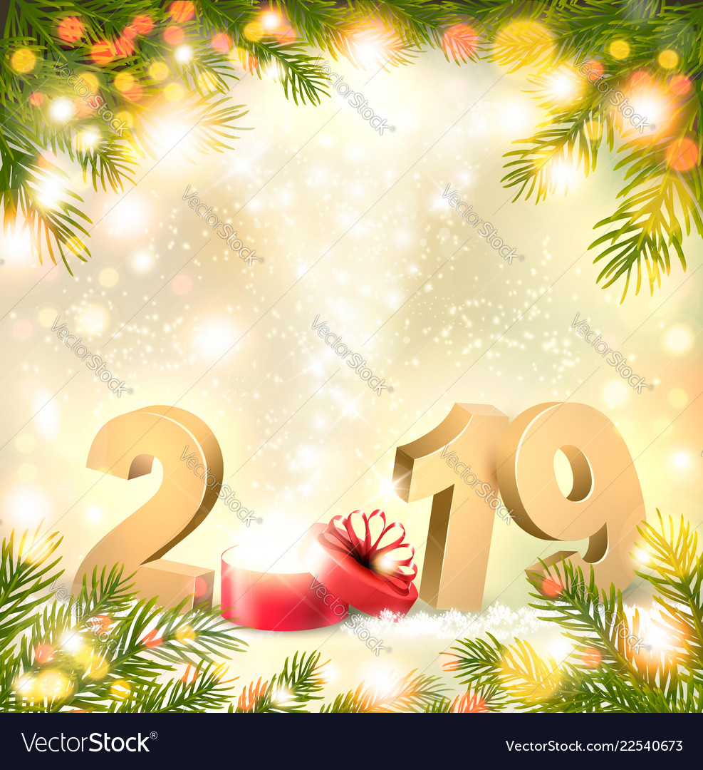 Merry Christmas Images Download.Merry Christmas Background With 2019 And Magic Box