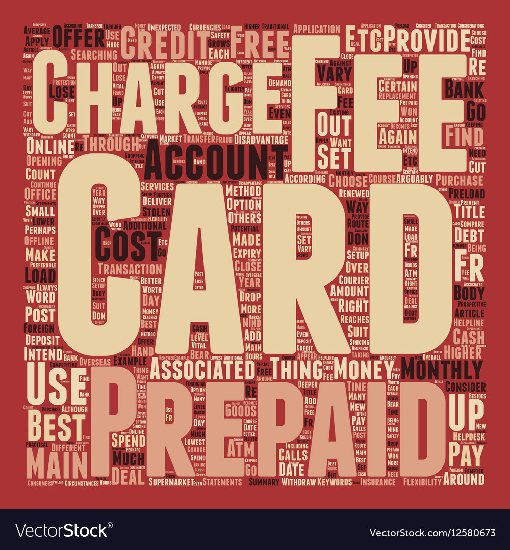 Prepaid Credit Cards How To Choose The Right