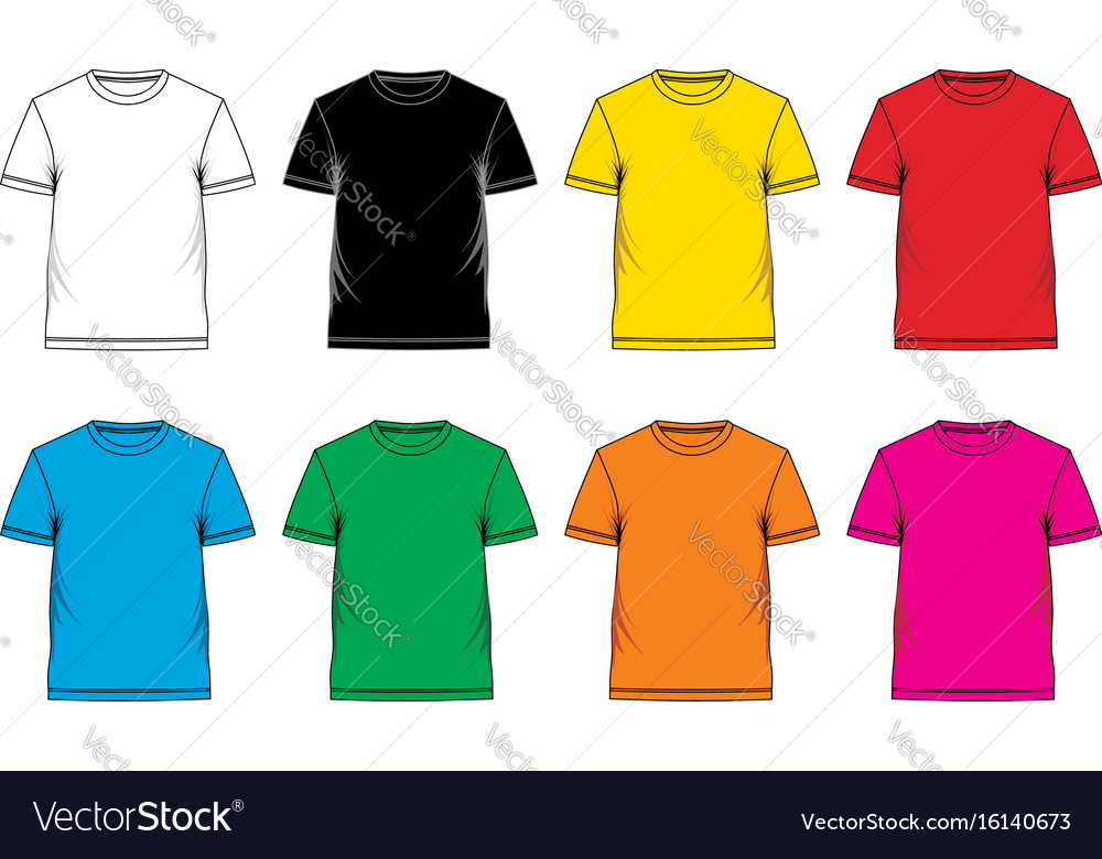 T-shirt template colorful