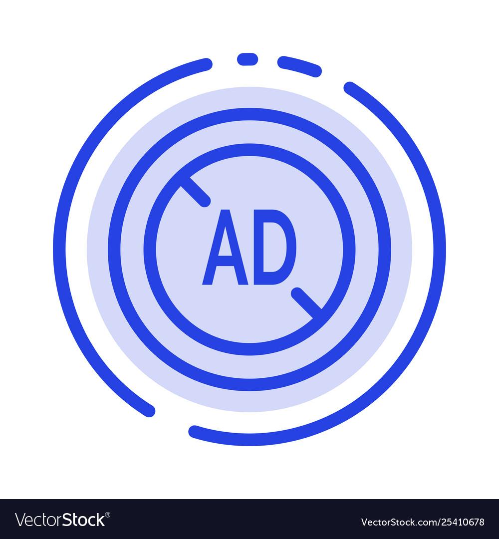 Ad blocker ad blocker digital blue dotted line