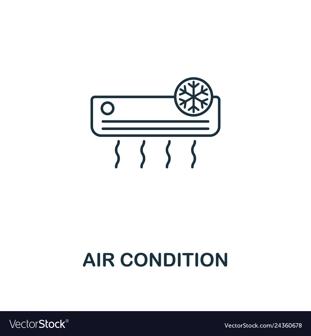 Air condition icon thin style design from