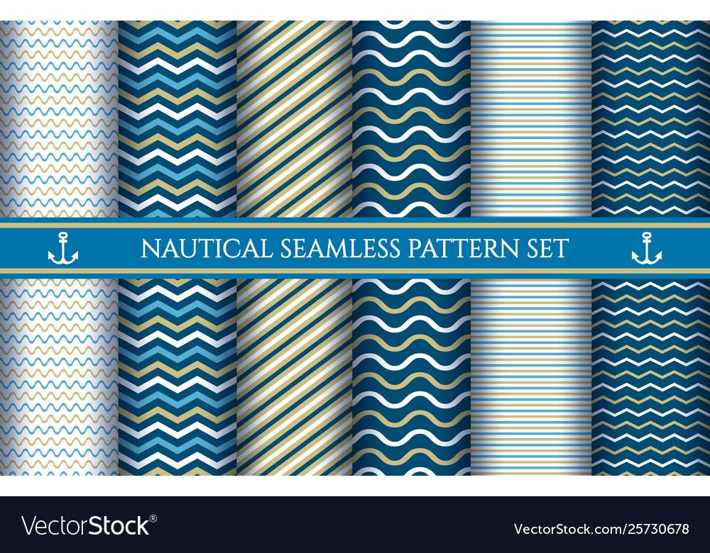 Boys nautical seamless patterns