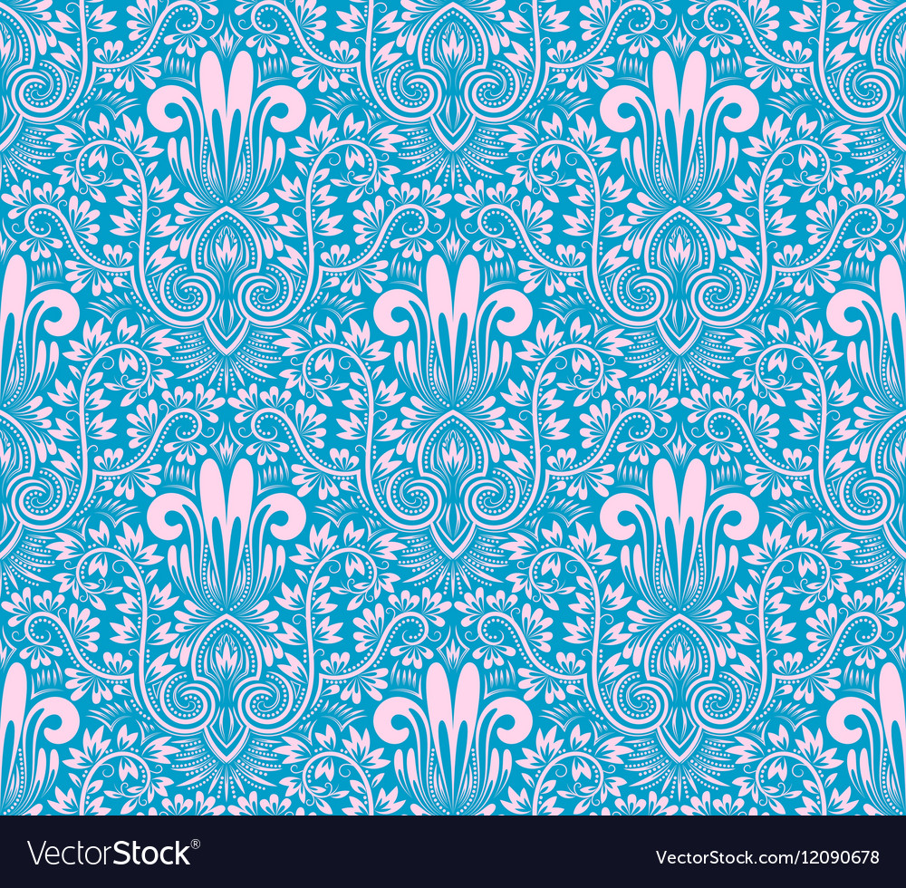 Damask seamless pattern repeating background