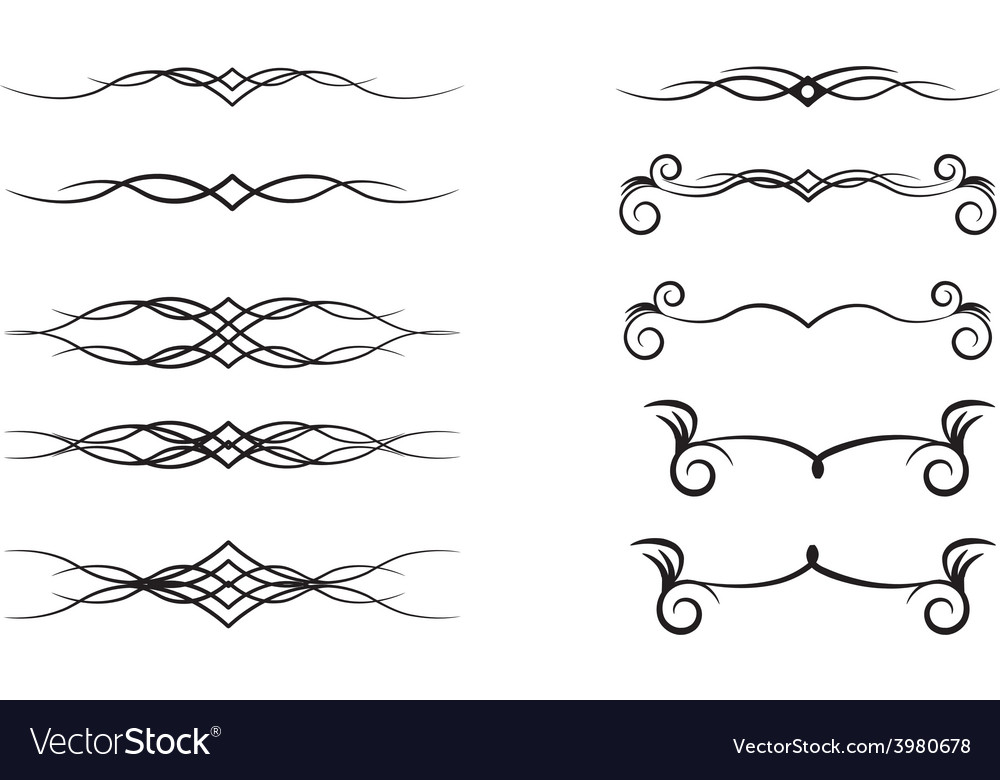 Decorative Design Elements Royalty Free Vector Image Fascinating Decorative Design Elements