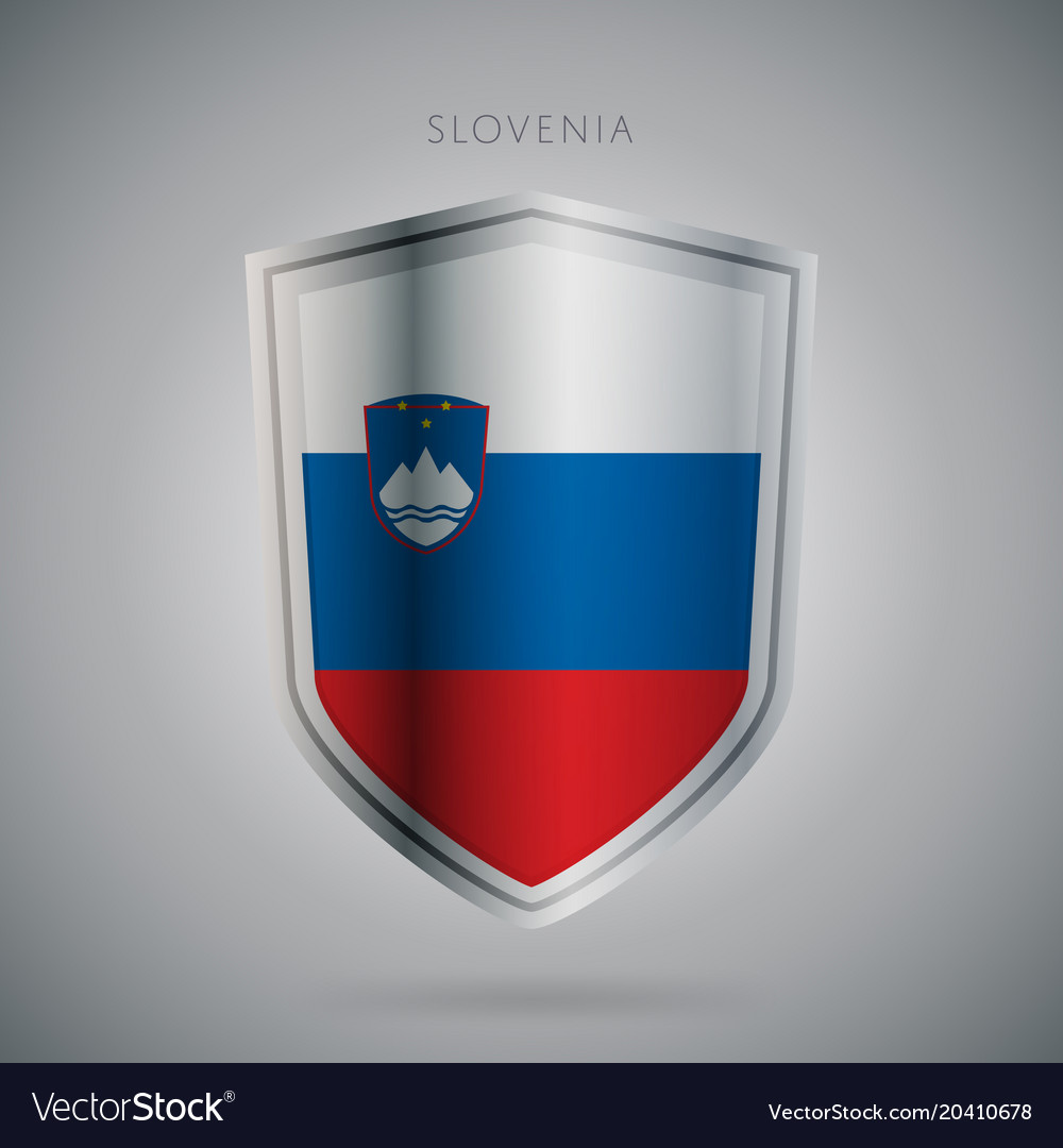 Europe flags series slovenia modern icon vector image