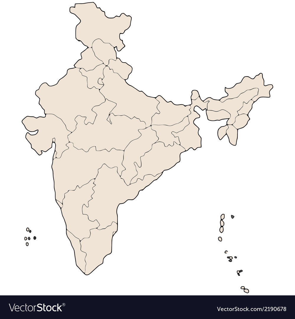 India states map Royalty Free Vector Image - VectorStock