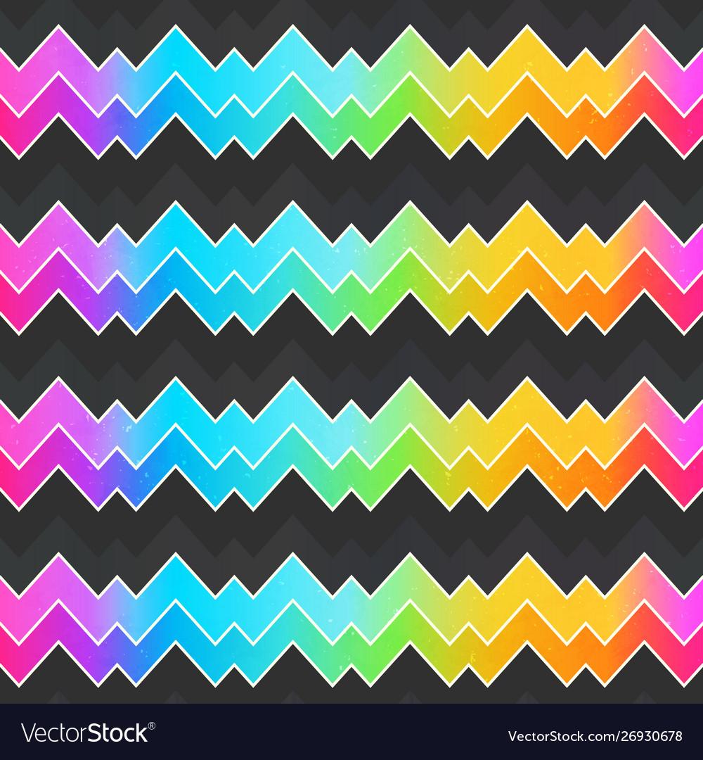 Neon zigzag seamless pattern