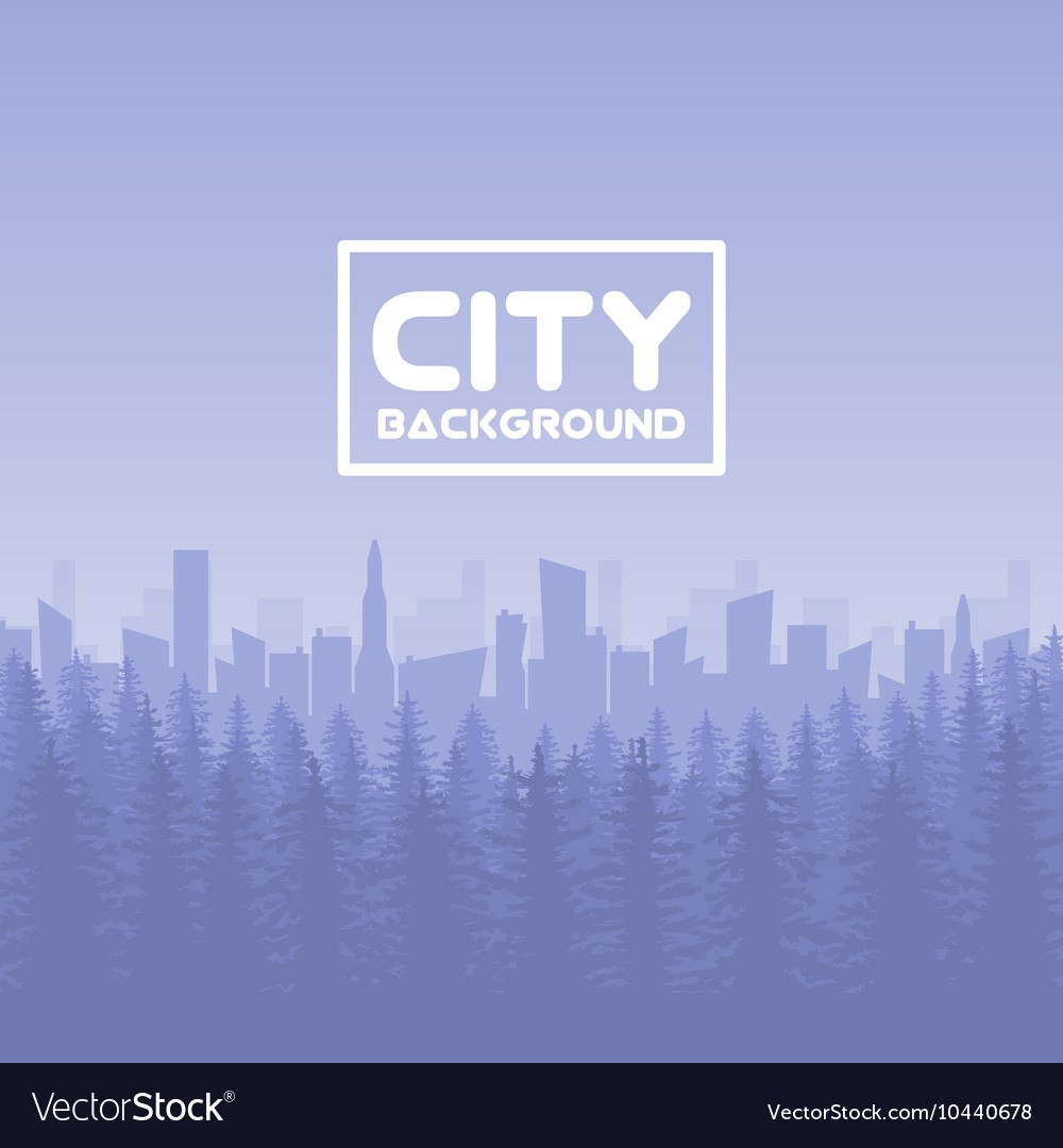 Panorama of city with forest