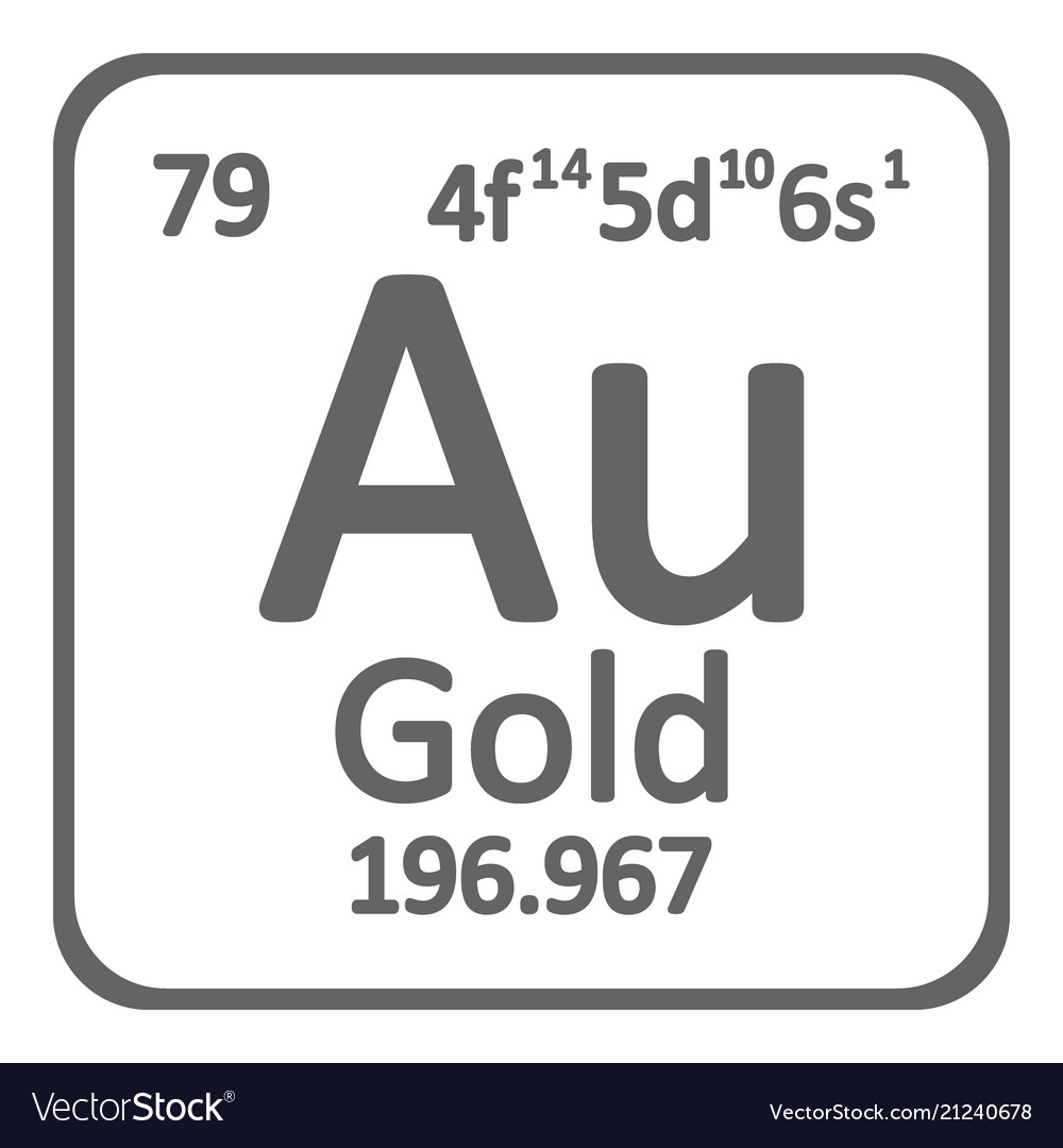 Periodic table element gold icon royalty free vector image periodic table element gold icon vector image urtaz Image collections