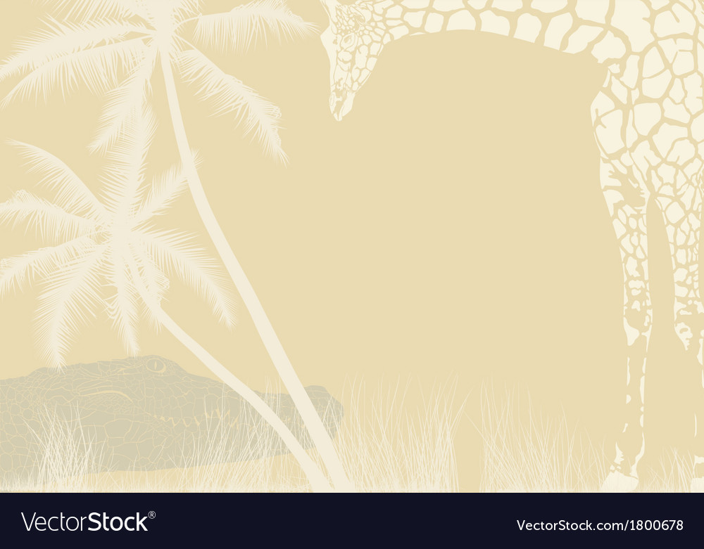 Tropical animal background vector image