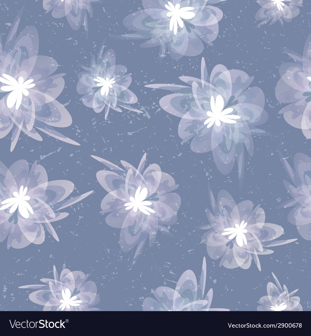 Vintage floral grey seamless background