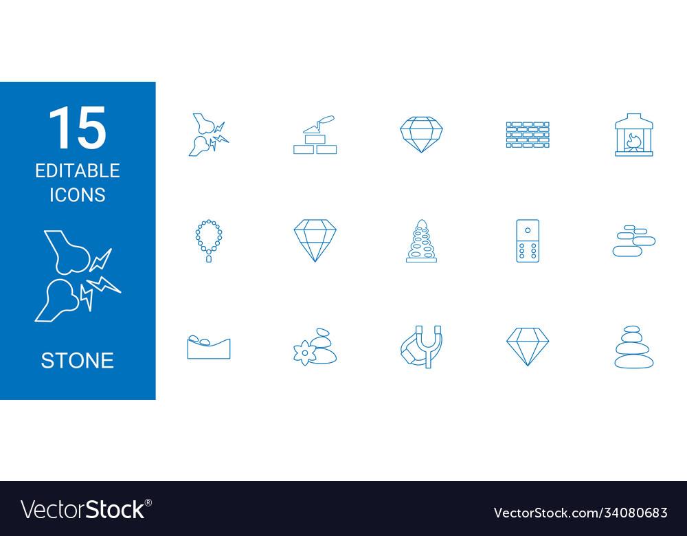 15 stone icons