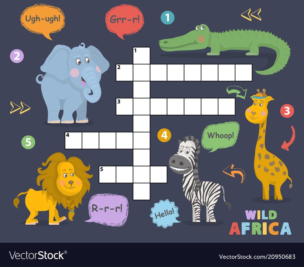 African animals crossword