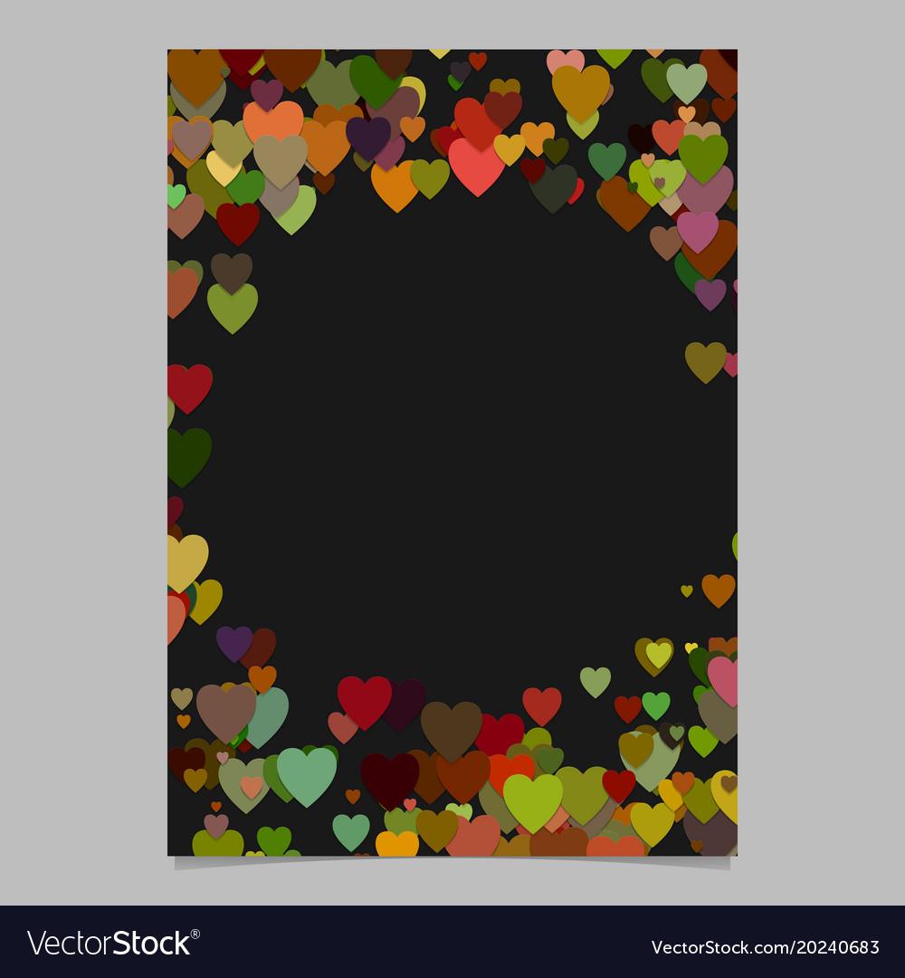 Color abstract random heart brochure template