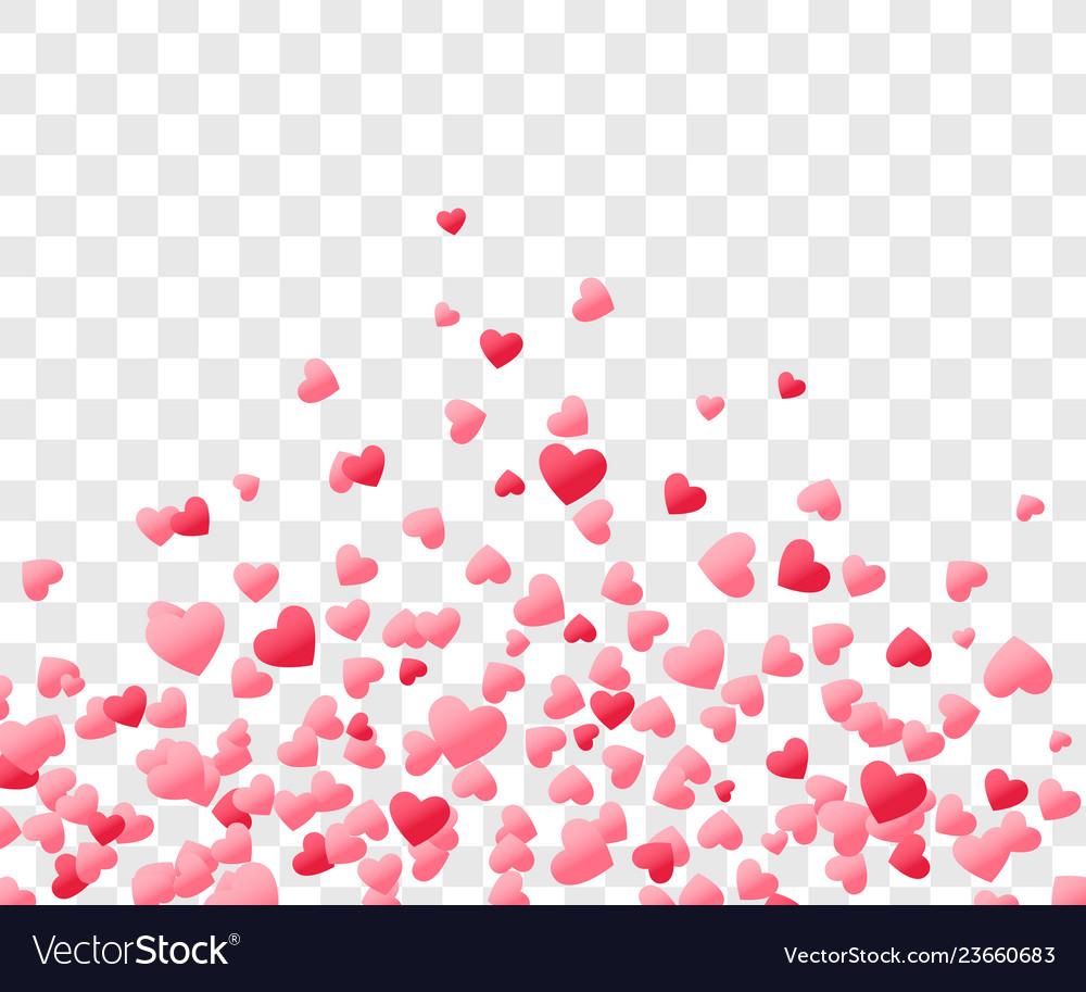 Heart confetti valentines day background