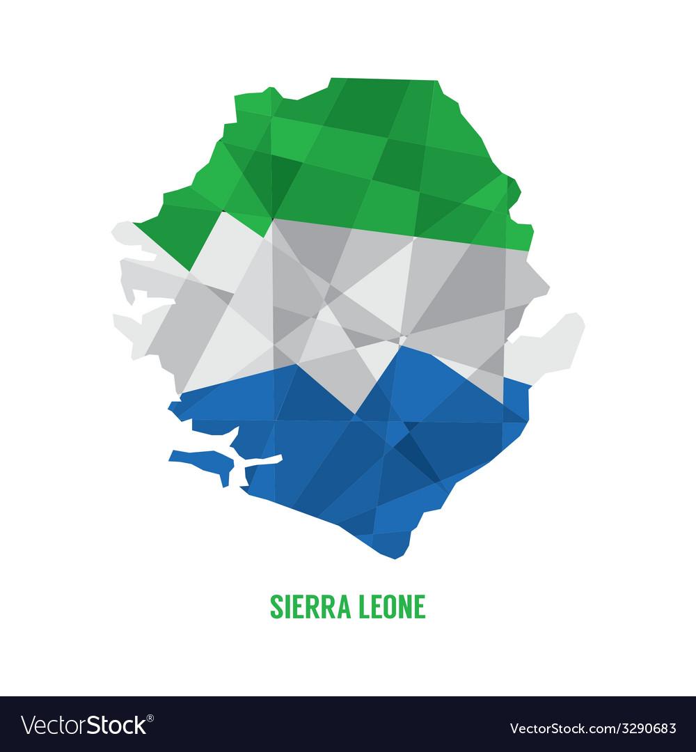 Map of Sierra Leone vector image