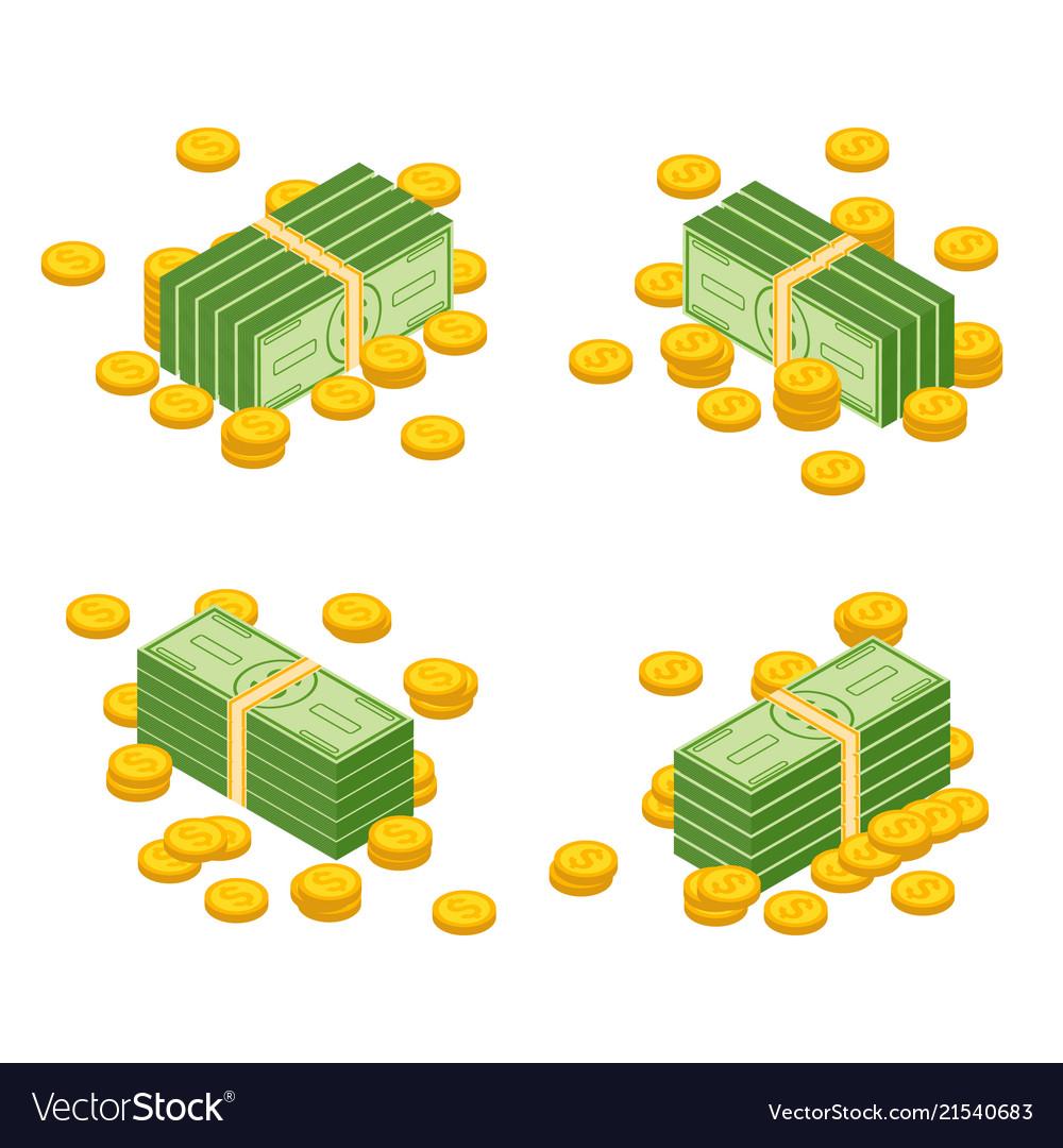 Money cash heap