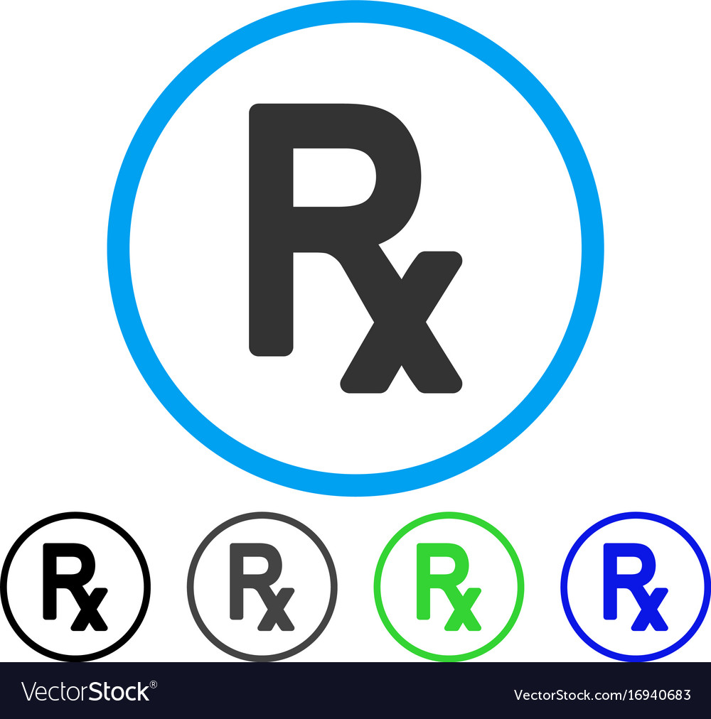 Prescription Symbol Rounded Icon Royalty Free Vector Image